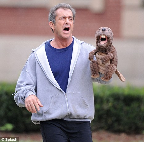 mel gibson with puppet